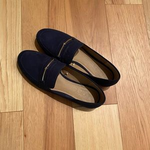 Loft navy loafers